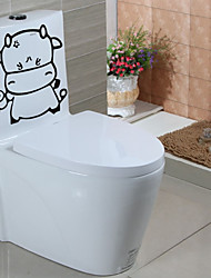 Animals Abstract Wall Stickers Plane Wall Stickers Decorative Wall Stickers Toilet Stickers,Paper Material Home Decoration Wall Decal
