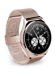 умные часы 9.8mm тонкий металлический круглый SmartWatch частота сердечных сокращений Relogio вызов синхронизации толчок сообщение для