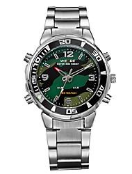WEIDE Small Dial Steel Belt Business Quartz Watch LED Waterproof Wrist Watch