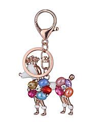 Key Chain Key Chain Dog Chic & Modern Creative Leisure Hobby Rainbow Metal