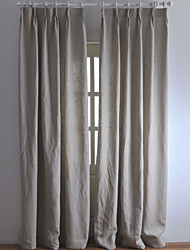 Two Panels Curtain Country Modern , Solid Kitchen Linen Material Curtains Drapes Home Decoration For Window
