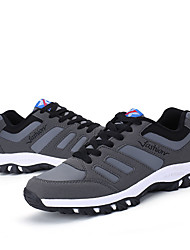 Men's Sneakers Spring Fall Comfort PU Casual Lace-up Black Dark Grey Navy Blue Hiking