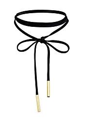 Ожерелья-бархатки Бижутерия Одинарная цепочка Ткань Сплав Базовый дизайн Уникальный дизайн В виде подвески бижутерия Бижутерия Назначение