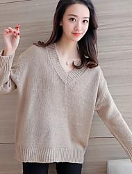 знак # 4302 2016 зима новых женщин&# 39, S свитер свитер хеджирования длинными рукавами свитер V-образным вырезом