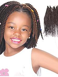 Senegal Twist Auburn Color 33 Synthetic Hair Braids 12inch Kanekalon 81 Strands 125g  Multipal Pack for Full Heads