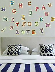 Shape Colour English Alphabet Luminous Wall StickersVinyl Material Home Decoration