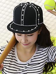 Unisex Fashion Cotton Sun Hat Baseball Cap Men Women Casual Holiday Outdoors Rivet Patchwork Summer All Seasons Black/Blue