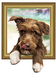 3D Wall Stickers Wall Decals Style Super Adorable Dog PVC Wall Stickers