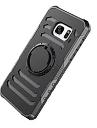 For Samsung S7 Edge S7 Shockproof Armband Case Back Cover Case Solid Color Hard PC