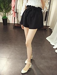 2016 летом новый корейский свободно бутон вводит слово широкие брюки ноги дикий темперамент был долговязый талии шорты, женщины
