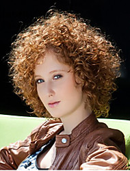 Most Popular African Brown Wig Fashion Style High Temperature Wire Short Curly Hair Wig