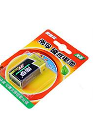 Nanfu bateria alcalina de 9V / brinquedos de controle remoto / fumo / alarme sem fio do microfone / multímetro / controle remoto / bateria