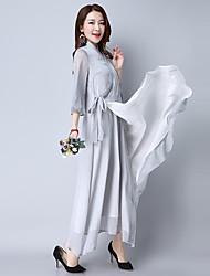 signer zen section longue robe de thé d'automne de vêtements peints à la main guqin chinois robe modifiée hanfu costume buddha sourit bord