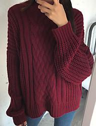 firmare la versione coreana del maglione torsione pullover femminile cappotto manica pipistrello linee grossolane spesse mezzo colletti