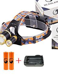 Lampes Frontales LED 6000 Lumens 3 Mode Cree XM-L T6 18650 Faisceau Ajustable Taille CompacteCamping/Randonnée/Spéléologie Usage
