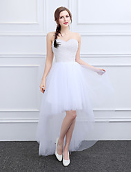 Cocktail Party Dress Ball Gown Sweetheart Short / Mini Tulle with Beading Crystal Detailing Pearl Detailing