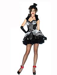 Costumes de Cosplay Sorcier/Sorcière Fête / Célébration Déguisement d'Halloween Noir Couleur Pleine Carnaval Féminin Coton