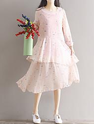 определить реальный выстрел театрального сбора винограда платье пассивом юбка с длинными рукавами шифон цветочные платья девочек длинный