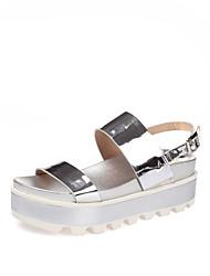 Women's Sandals Summer Slingback Creepers Comfort Patent Leather Wedding Outdoor Office & Career Party & Evening Dress CasualFlat Heel