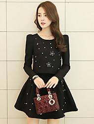 знак шт 2017 весной новый корейский дамы моды небольшой ароматный ветер костюм платье