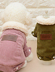 Cat Dog Coat Dog Clothes Winter Spring/Fall Solid Fashion Casual/Daily Coffee Pink