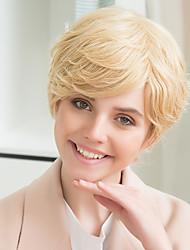 prevalecente bangs parciais fofo peruca de cabelo humano quente