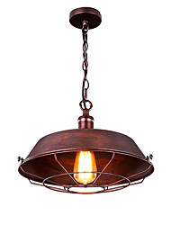 Pendant Light ,  Rustic/Lodge Vintage Retro Painting Feature for Mini Style Metal Living Room Dining Room Kitchen Entry Game Room
