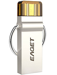 Eaget 2 em 1 32gb OTG USB 3.0 prata flash unidade