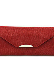 L.west Women Elegant High-grade Metal Silk Thread The Envelope Evening Bag