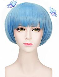 lolita bleu clair belle partie résistant à la chaleur naturelle de pas cher perruque cosplay court capless cheveux