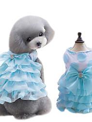 Chien Robe Smoking Vêtements pour Chien Eté Nœud papillon Mignon Mode Jaune Bleu Rose