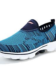 Черный Синий СерыйДля прогулок Повседневный Для занятий спортом-Тюль-На плоской подошве-Удобная обувь Светодиодные подошвы-Кеды