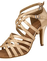 Sapatos de Dança(Camelo) -Sapatos de Senhora-Personalizável-Latina