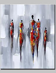 Peint à la main Abstrait Personnage Verticale,Moderne Style européen Un Panneau Toile Peinture à l'huile Hang-peint For Décoration