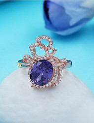 Ring Sapphire Gemstone Sterling Silver Jewelry Fashion Personalized Blue LED Jewelry Daily Casual 1pc