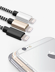 mfi quatro pés certificada (1.2m) relâmpago para usb sincronismo e cabo de carga para Apple iPhone 7 6s 6 plus 5s 5 / Mini iPad