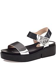 Sandals Summer Comfort Slingback Creepers Patent Leather Wedding Outdoor Office & Career Dress Casual Party & EveningFlat Heel Wedge Heel