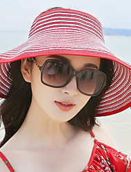 Mujer Sombrero para el sol Vintage Casual-Verano-Paja