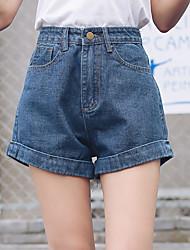 Zeichen des Sommer neue koreanische Version der Vier-Farben-dünnen Taille elastische beiläufige Jeans-Shorts, Frauen