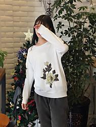 unterzeichnen 2017 Frühjahr neue Modelle Rundhals Pullover bestickt Ärmel Hand