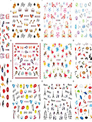 1pcs 11design Nail Art DIY Sticker Beautiful Cartoon Lovely Image Design Nail Water Transfer Decals For Lady Nail Beauty E501-511