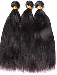 Tissages de cheveux humains Cheveux Péruviens Yaki 12 mois 3 Pièces tissages de cheveux