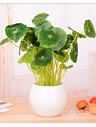 3PCS Simulation of plant feel lotus leaves home decoration