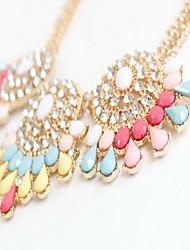 Women's Strands Necklaces Jewelry Jewelry Gemstone Gem Imitation Diamond AlloyFlower Style Fashion Personalized Euramerican Colorful