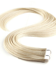 Neitsi 16'' 20Pcs 30g Skin Weft 100% 5A Grade Tape in Remy Human Hair Extensions 60# Platinum Blonde#