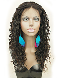 In Stock Natural Color Brazilian Virgin Hair Lace Front Wig With Baby Hair