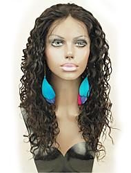 em estoque cor natural brasileiro peruca dianteira do cabelo virgem do laço com cabelo do bebê