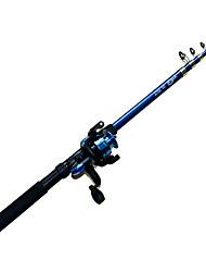 Cana de pesca Vara de Pesca Telespin FRP 270 M Pesca Geral Varas + Molinetes de Pesca Azul-Other