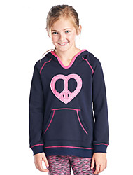 Girl Casual/Daily Solid Hoodie & Sweatshirt,Cotton Polyester Spandex Winter Spring Fall Long Sleeve Long