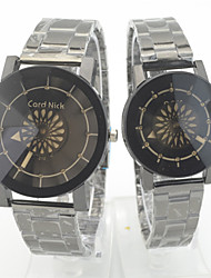 Couple's Wrist watch Quartz Stainless Steel Band Casual Silver